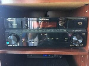 Pioneer Elite 7.1  A/V Receiver with 5.1 Athena speakers.
