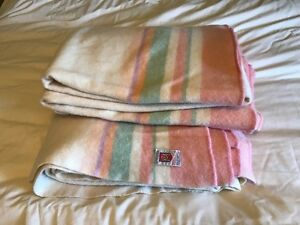 2 MOSSFIELD – PORRITTS & SPENCER WOOL BLANKETS, DOUBLE
