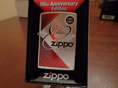 ZIPPO 80TH ANNIVERSARY ZIPPO LIGHTER MINT IN BOX