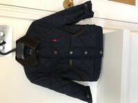 Ralph Lauren Navy Blue Quilted Jacket with Brown Corduroy Collar Age 2 (Boys). Very Good condition.