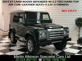 2011 61 Land Rover 90 Defender 2.2 TDCi Hard Top~ 2 OWNERS~