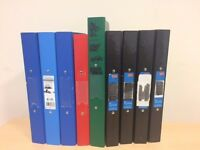 Job lot of 9 A4 Two-ring Files in Various Colours