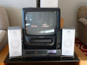 Colour TV with Video Cassette Recorder and VCR as a bonus