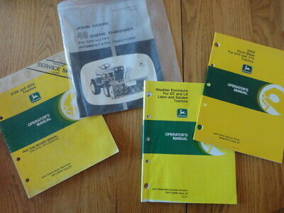 Lot Of 4 John Deere Tractor Blade Cab Enclosure Snow Thrower Operator Manuals