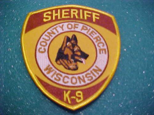 PIERCE COUNTY  WISCONSIN K-9  POLICE PATCH SHOULDER SIZE UNUSED