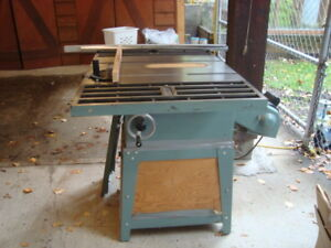 Ten inch King Canada Table saw with sliding table