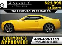 2012 CHEVROLET CAMARO RS *EVERYONE APPROVED* $0 DOWN $199/BW!