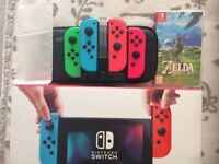 Nintendo Switch 4 controllers Full Pack Urgent Sale