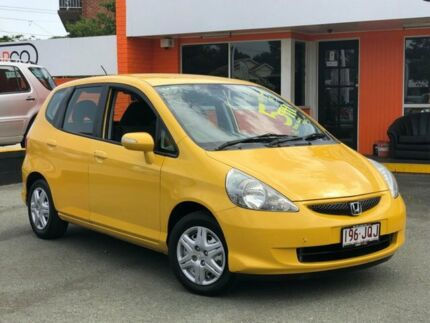 2006 Honda Jazz GD MY06 VTi Yellow 7 Speed Constant Variable Hatchback Greenslopes Brisbane South West Preview