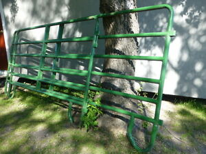 6 rung steel tube gates 8 ft and 12 ft.