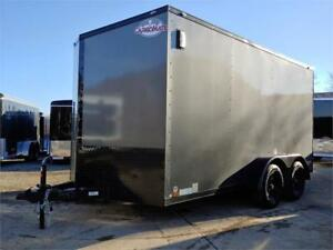 7 X 14 Venom Fully Loaded Tandem Axle Cargo Trailer with Blackou