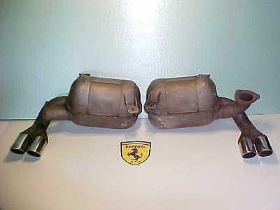 Ferrari 512 Engine Exhaust Muffler Resinators_Pipe Flanges_Pair_BB_BBi_110309_OE