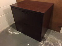 2 drawer wood filing cabinet