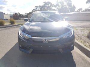 2017 Honda Civic Blue Constant Variable Sedan