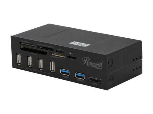 """Rosewill RDCR-11004 - Data Hub for 5.25"""" Drive Bays - Two USB 3.0 Ports and Main"""