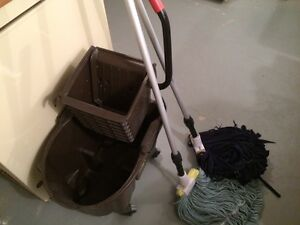 Mop bucket and mops