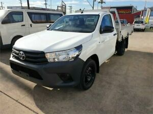 2016 Toyota Hilux TGN121R Workmate White 6 Speed Automatic Cab Chassis Granville Parramatta Area Preview