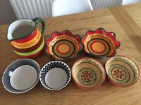 Selection of kitchen bowls and jug