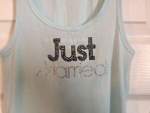 "Victoria's Secret ""Just Married"" tank top, teal Windsor Region Ontario image 1"