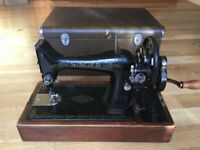 Singer Sewing Machine with Case - Old Fashioned - Great Item - Bargain!!!