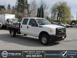 2012 FORD F-350 SUPER DUTY XL CREW CAB FLAT DECK 4X4