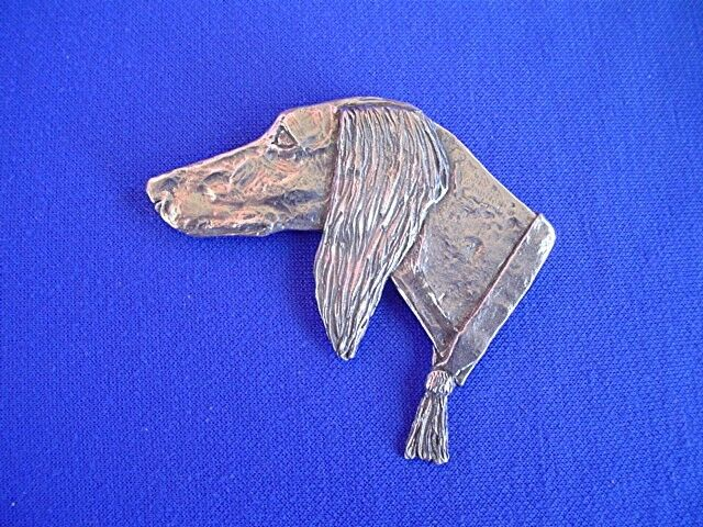 Large Saluki Pin #15Q Pewter dog jewelry by Cindy A. Conter Sighthound arabian