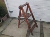 Old wooden step ladders shabby chic