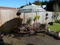Double Wooden Garden Seat