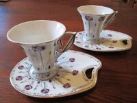 """""""THE LEONARDO COLLECTION"""" CUP AND SAUCER SETS"""
