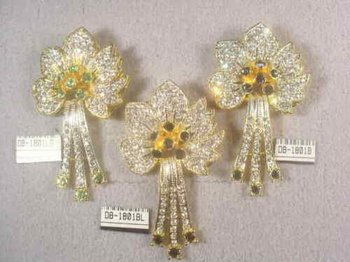 3 ...    DESIGNER SIGNED  PIN BROOCHES WITH SWAROVSKI CRYSTALS   LOT 1801.3UP