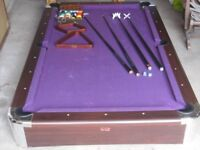 Pool Table - in good overall condition but needs re-covering (due to some cloth damage)