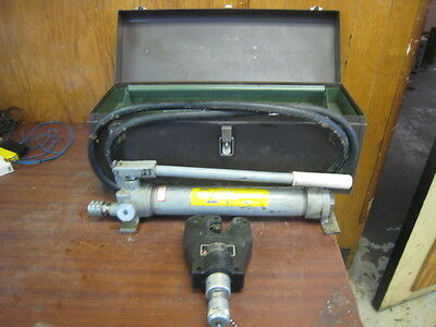 Anderson Vc6 Dieless Hydraulic Crimper Greenlee Tb Burndy Vc6 With Pump Used