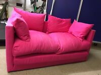 Sofa bed - pink - two seater