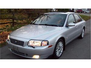 2004 Volvo S80 T6 AUTO,LOADED,LEATHER,SUNROOF,CERT$3475