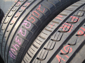 205/55/16 Pirelli P7 x2 A Pair, 6.1mm (168 High Road, Romford, RM6 6LU) Used Tyres East London