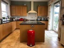 Kitchen units with black granite work top for sale