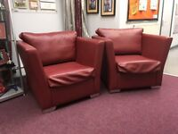 Free To Collect - Excellent Condition - Pleather Arm Chairs - GONE