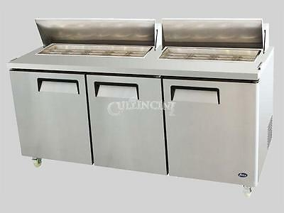 New Atosa Salad Prep Table Top Reach-in Refrigerator 72 In - Msf8304