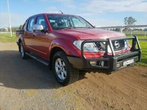 2010 Nissan Navara D40 ST-X (4x4) Red 6 Speed Manual Dual Cab Pick-up Muswellbrook Muswellbrook Area Preview