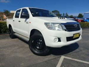2013 Toyota Hilux KUN26R MY12 SR Double Cab White 4 Speed Automatic Utility Taylors Beach Port Stephens Area Preview