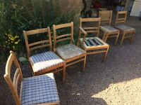 Kitchen/Dining room chairs needing TLC