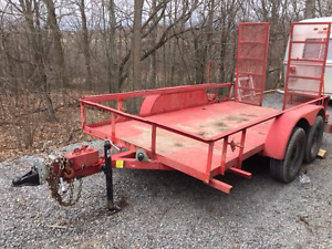 HEAVY DUTY HAULING / CARGO / OPEN TRAILER WITH RAMPS - TRADES ??