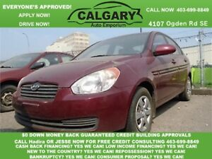 2009 Hyundai Accent Man L * $99 DOWN EVERYONE APPROVED*