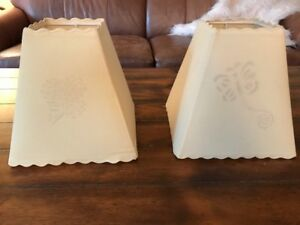 Pottery Barn Kids Butterfly & Flower Lamp Shades - Set of 2