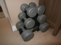Dumbbell Weights & Stand