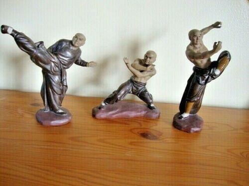 3 Shiwan artistic factory Mud Men Kung Fu figurine s