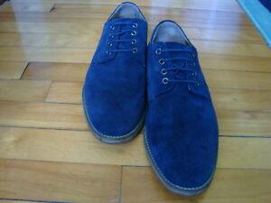 MEN'S TOPMAN UK BLUE SUEDE SHOES SIZE 43/10 West Island Greater Montréal image 9