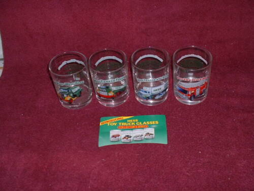 1996 HESS Collector Series GLASS TUMBLERS: SET of FOUR (4)