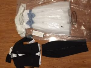 Size 3, Flower Girl Dress and Boys Tux