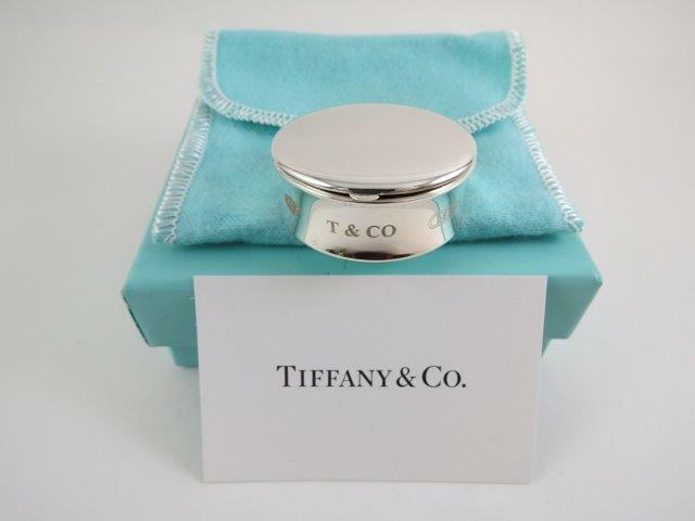 RARE Tiffany & Co Sterling Silver 1837 Pill Box Tooth Fairy Trinkets Box